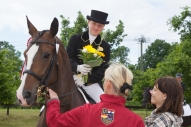 Aiga Silavniece ar zirgu Diona Haleja