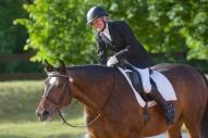 Līga Ģīle ar zirgu Gundega
