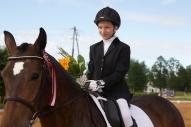Sintija Ģīle ar zirgu Gundega