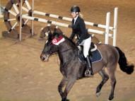 Karīna Pavāre ar zirgu Laviņš