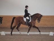 Agnese ar zirgu Funky (V.Rutkovska foto)