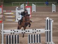 Kristīne Baradovska ar zirgu Gongs