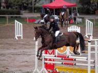 Karolina Koročkina ar zirgu Calandria