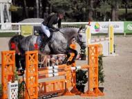 Linda Sudāre ar zirgu Amaranth