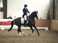 Agnese Kukaine ar zirgu Diona Haleja