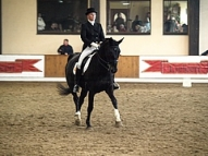 Gundega Krīgere ar zirgu Donnerwelle Mazās balvas shēmā
